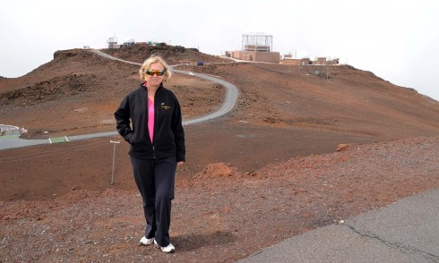 Outside the Haleakala Observatories