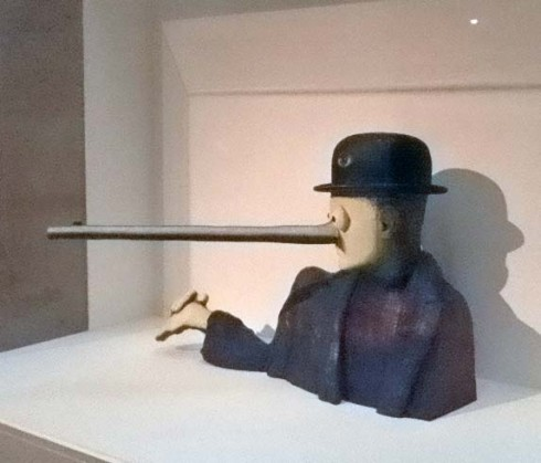 Man with Rifle Nose Magritte
