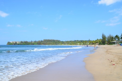 Hanalei Beach towards Princeville