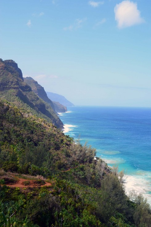 Looking Down the Na Pali Coast