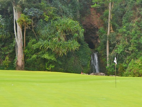No 13 Green with Waterfall