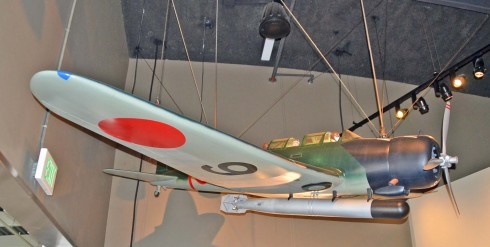 Model of a Japanese attack fighter used at Pearl Harbor