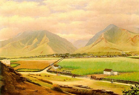 Edward Bailey painting of Wailuku