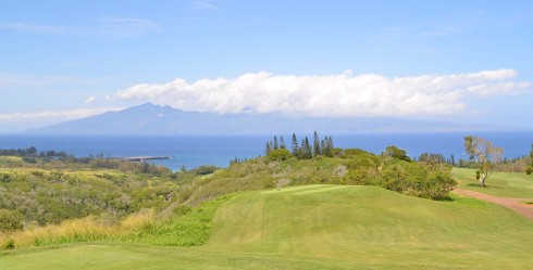 Molokai from Plantation Course