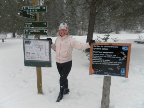 Alison among the Snowflakes