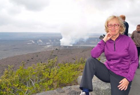 At Kilauea Crater