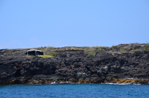 Beach Hut in the lava fields