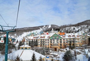 Mont Tremblant Village from the People Mover