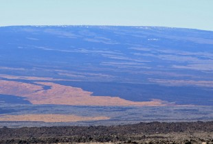 Snow on top of Mauna Loa