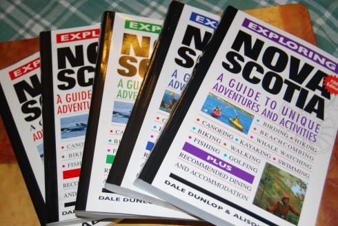 Five Editions of Exploring Nova Scotia