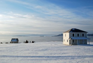 Gaspe winter scene