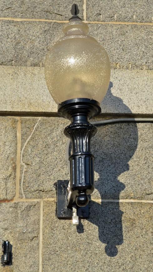Lamp on an old Boston warehouse