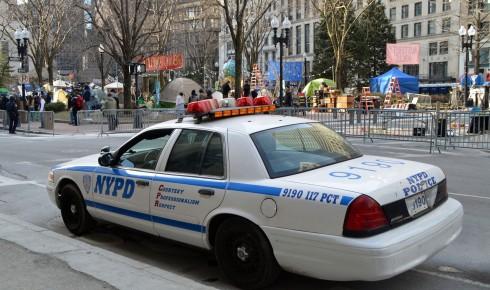 NYPD car in Boston
