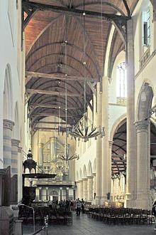 Interior Oude Kerk, Delft