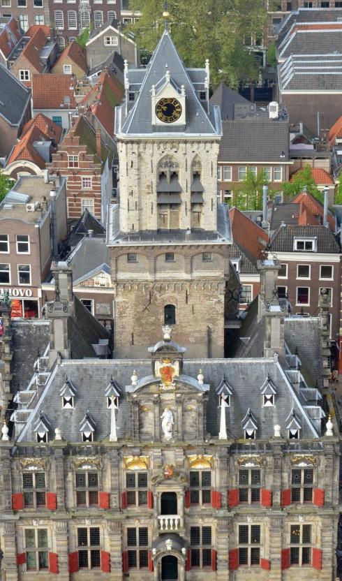 Delft Stadhuis from Nieuwe Kerk steeple