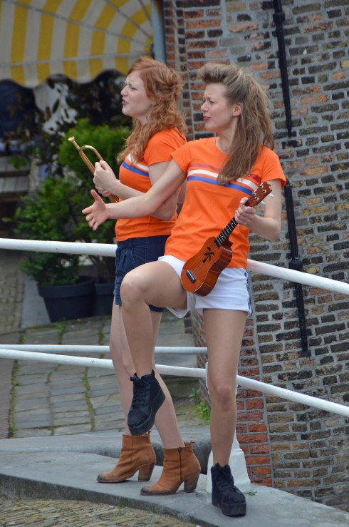High energy dancers on Koningsdag