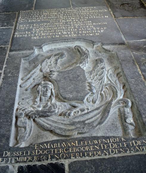 Van Leeuwenhoek Headstone, Oude Kerk, Delft