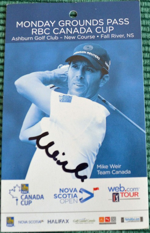 Mike Weir autograph