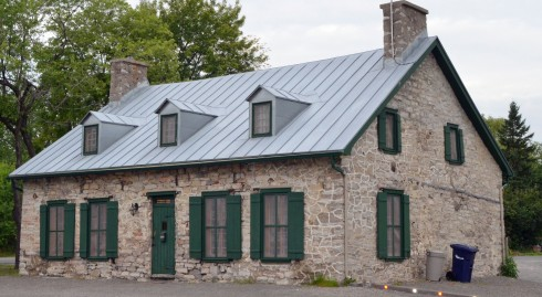 Typical older Laval stone house