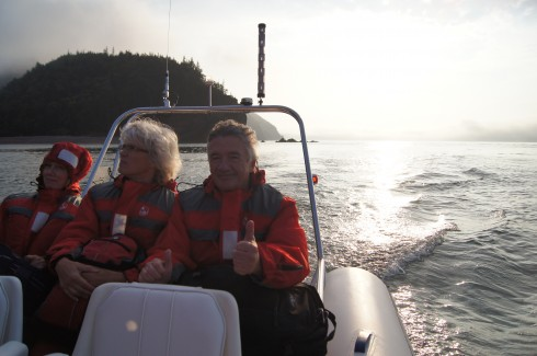 Heading out past Cape Chignecto