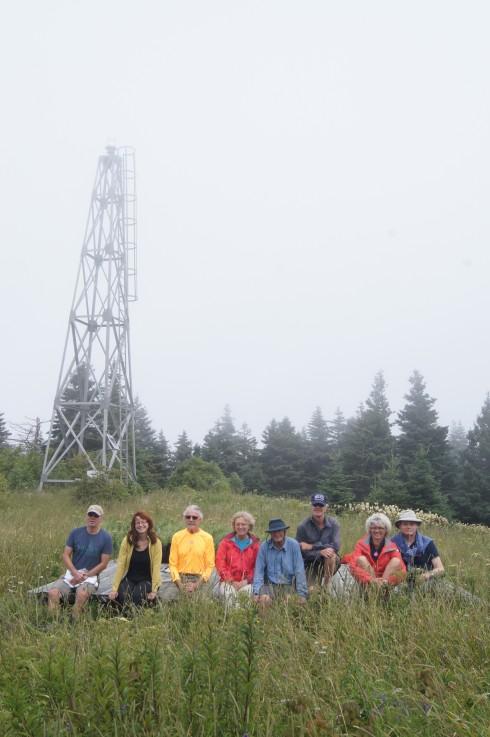 Dan, Judy, Eric, Alison, Dale, Allan, Carla and George on Isle Haute