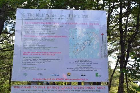 Bluff Wilderness Trail Entrance