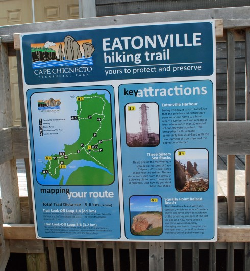 Eatonville Hiking Sign