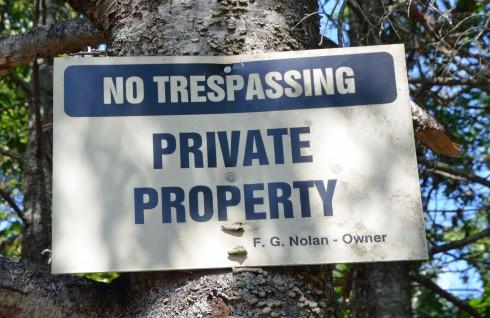 Nolan No Trespassing Sign