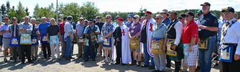 The Masons in their regalia
