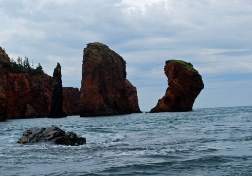 The Three Sisters from a kayak