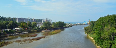 Goderich Harbour from Menesetung Bridge
