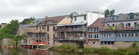 Houses fronting on the Grand River, Elora