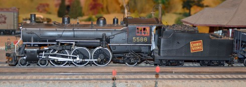 Model locomotive