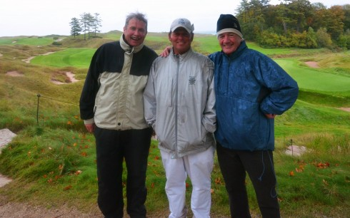 Brian, Dale and Scott Scheurell after playing Whistling Straits