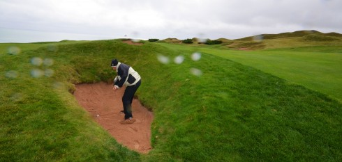 Brian in a typical Whistling Straits Bunker