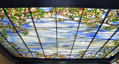 Tiffany glass ceiling, Nemacolin Resort