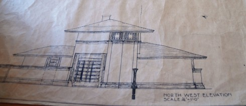 Frank Lloyd Wright Architectural Drawing