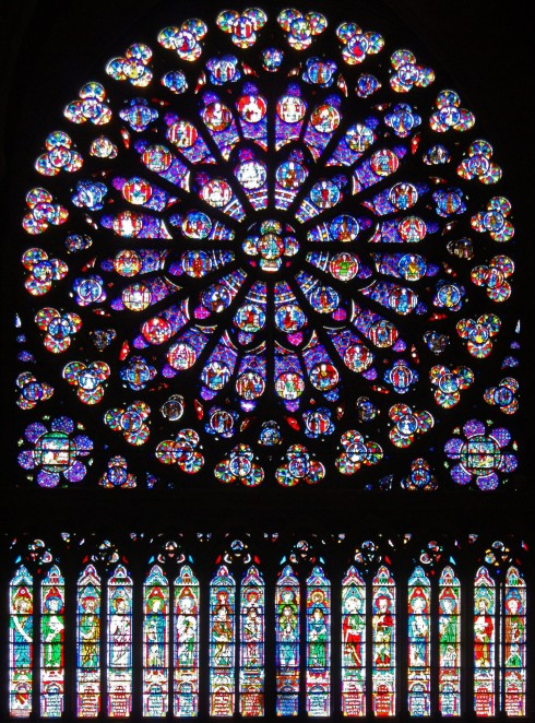 Rose Window Notre Dame Cathedral, Paris