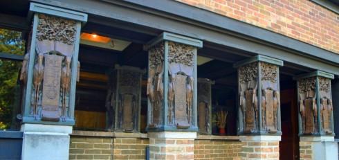 Stork Columns, Wright Studio