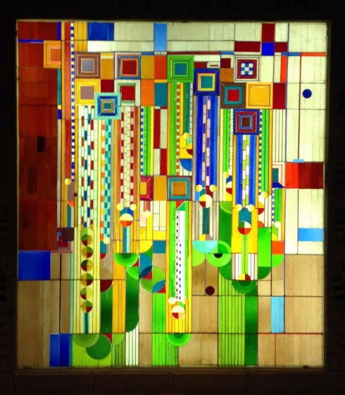 Frank Lloyd Wright stained glass from the Biltmore, Phoenix