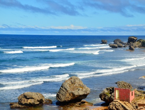 Touring Barbados - Bathsheba Beach from the north