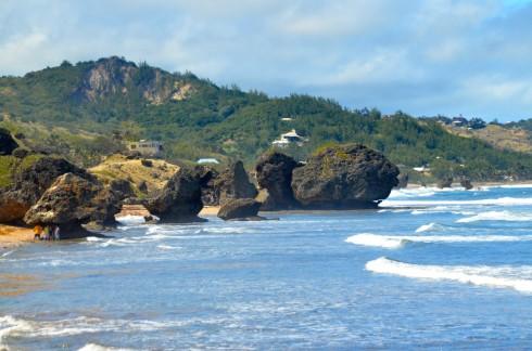 Touring Barbados - Bathsheba Mushroom Rocks