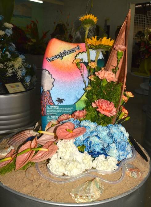 Boogie Board flower arrangement