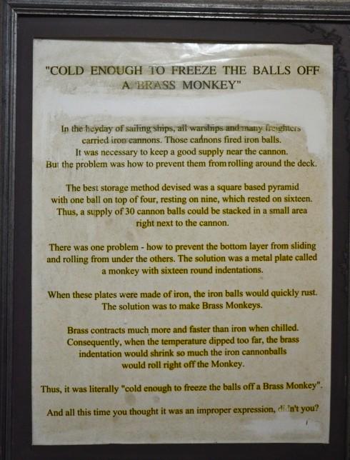 Brass Monkey story