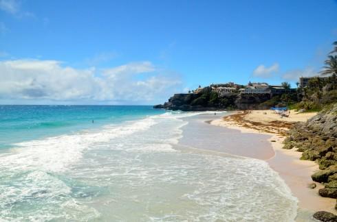 Touring Barbados - Crane Beach