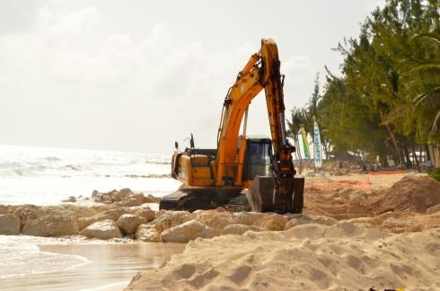Creating a breakwater on Maxwell Beach