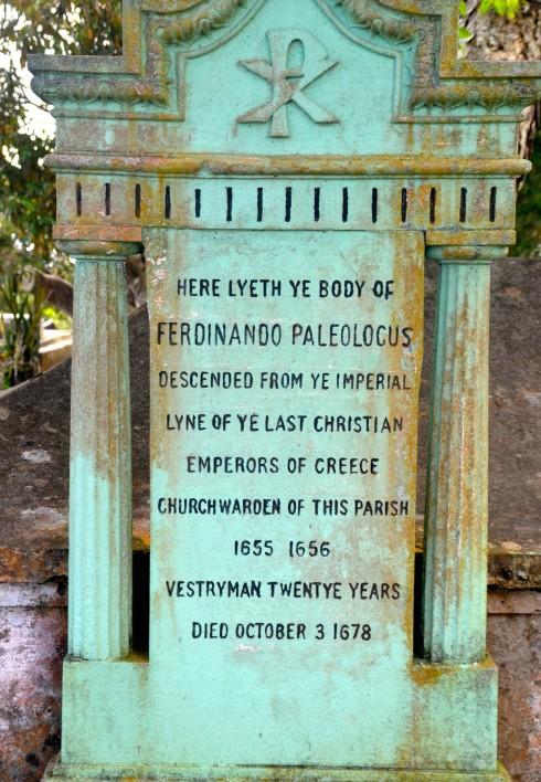 Touring Barbados - Grave of Ferdininando Paleologus