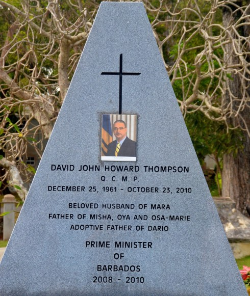 Touring Barbados - Grave of P.M. David Thompson