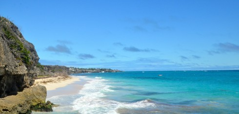 Touring Barbados - Looking east from Crane Beach
