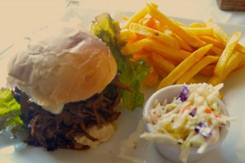 Touring Barbados - Pulled Pork Sandwich, Round House Restaurant